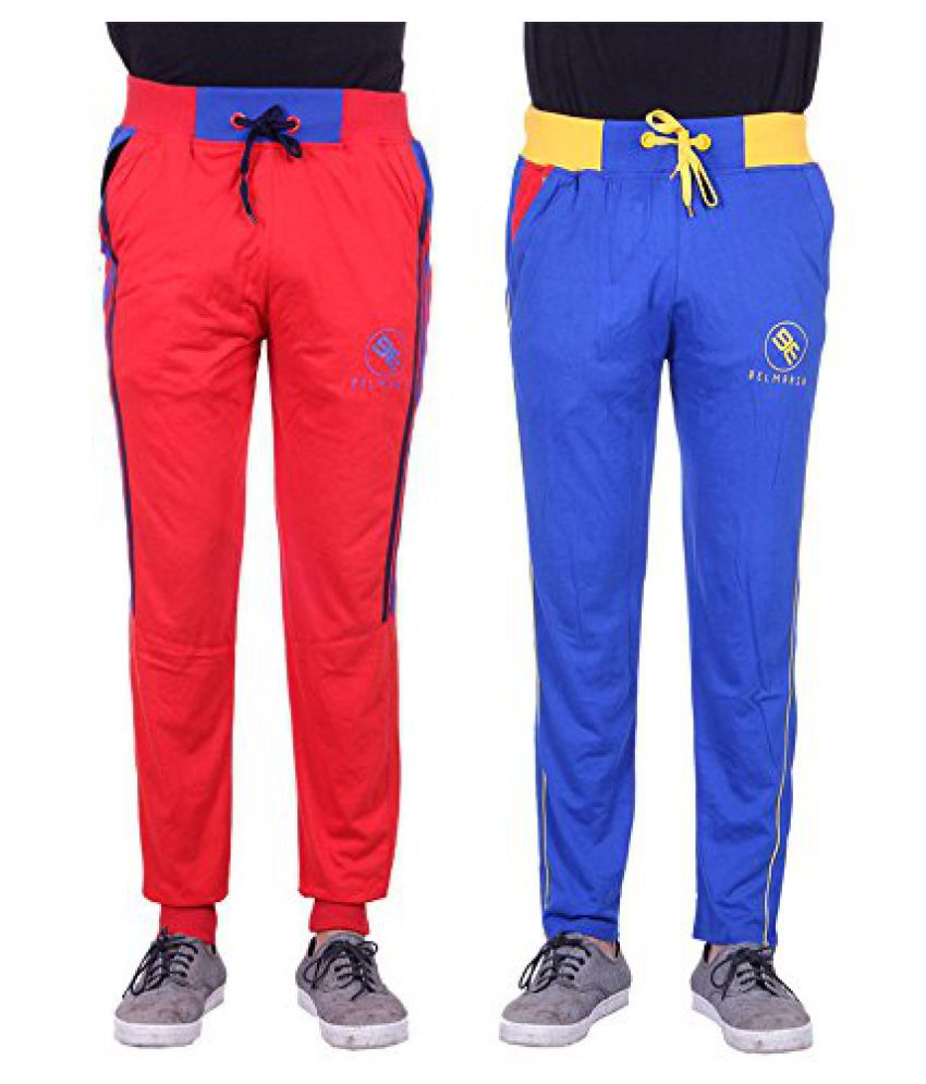 Mens Designer Cotton Track Pants - Pack of 2