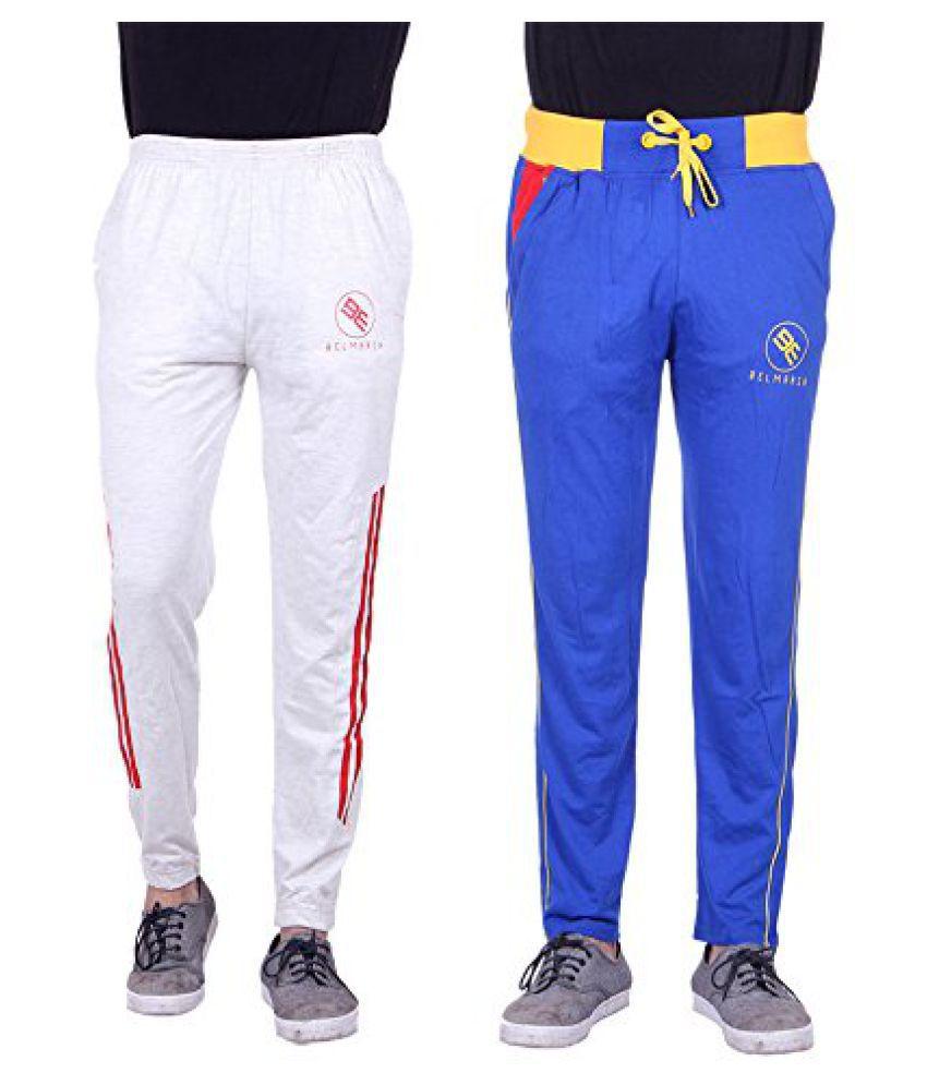 Mens Designer Cotton Track Pants - Pack of 2