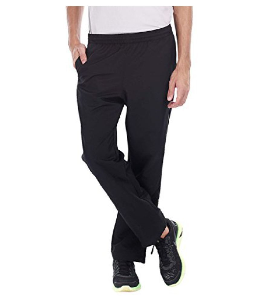 Mens Mens Track Pants With Zipper Lower Leg Opening And Side Reflectors