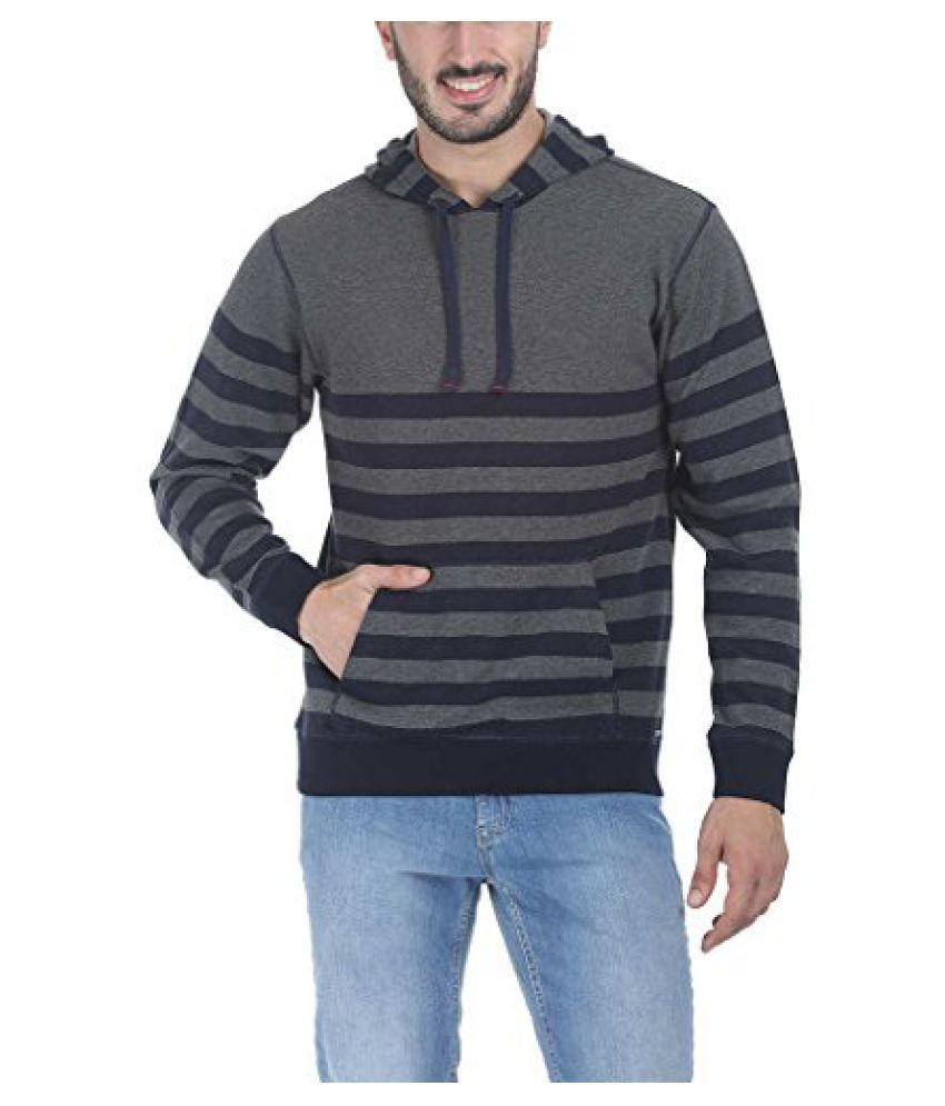 Mens Thick Engineered Nautical Striper Hoodie