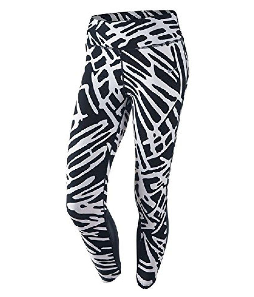 Nike Women's Dri-Fit Power Epic Lux Crop Running Tights-Black/White