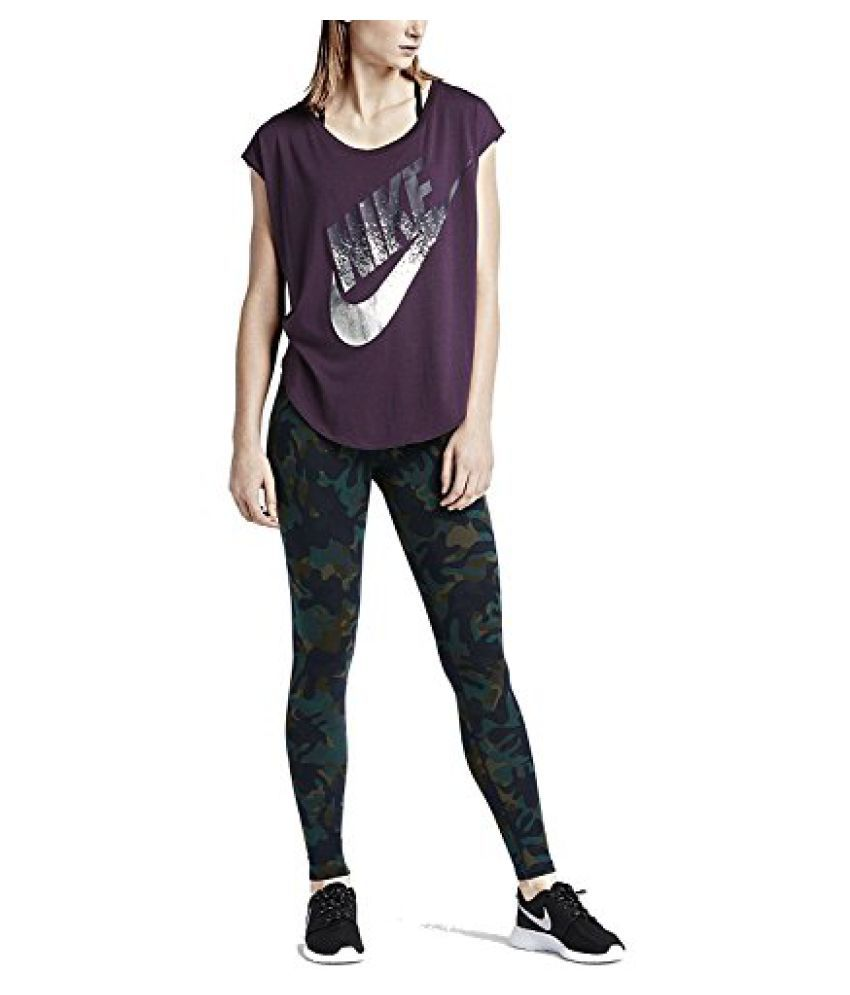 Nike Womens Leg-A-See Allover Print Woodland Camo Leggings XS