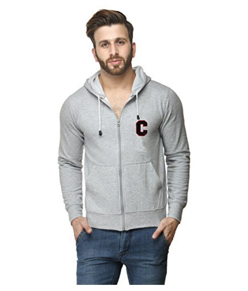 Scott International Grey Cotton Comfort Styled Hooded Sweatshirt