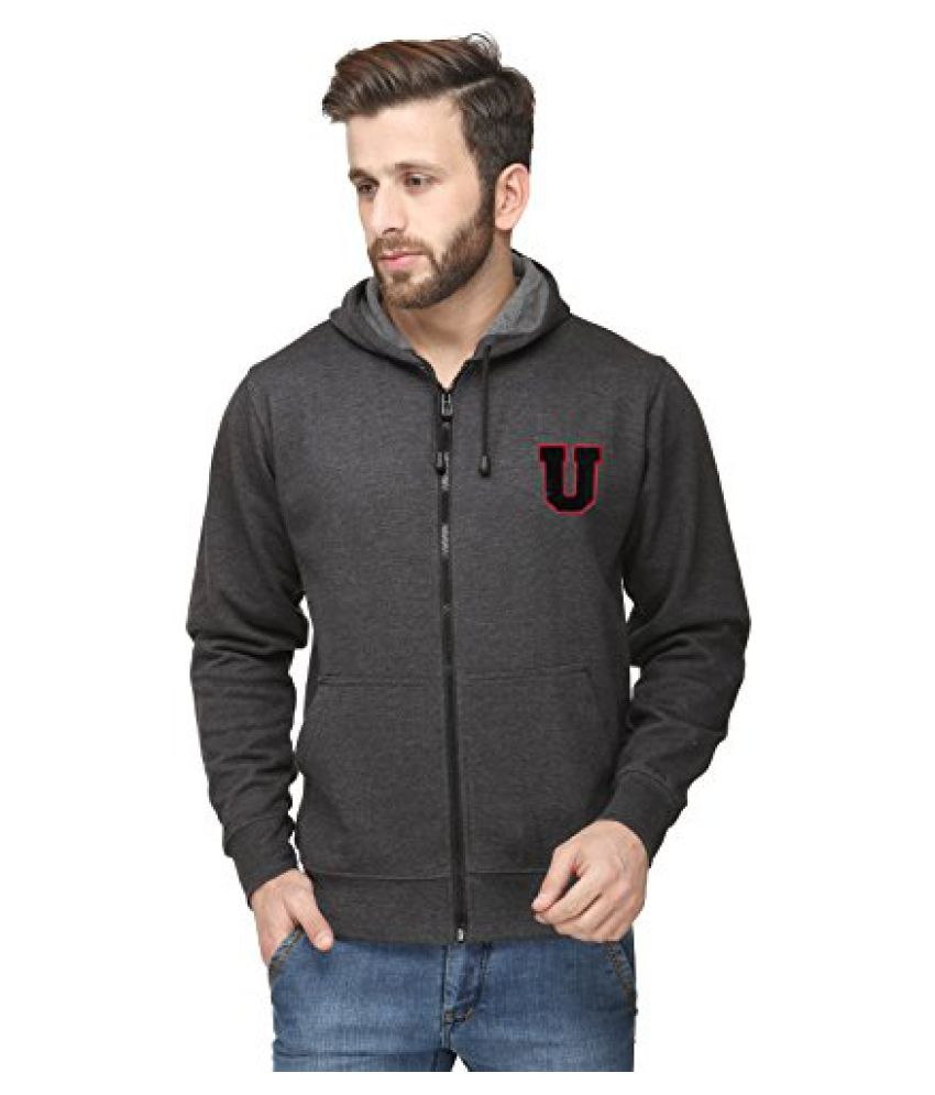 Scott InternationalCharcoal Cotton Comfort Styled Hooded Sweatshirt