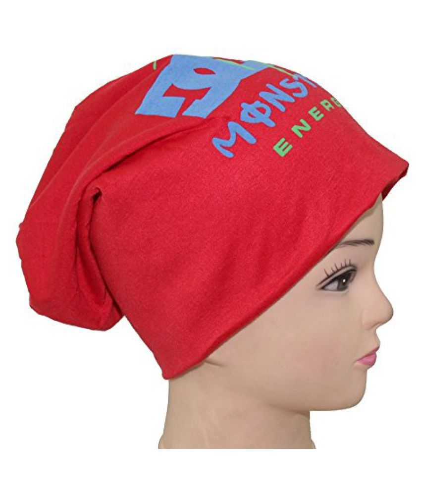 Sushito Red Beanies Skull Cap For Men
