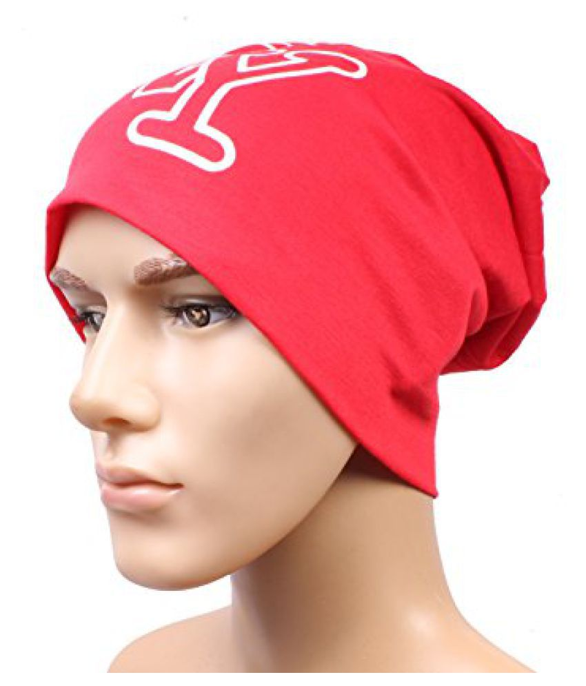 Sushito Red Classic Beanies Cap For Men