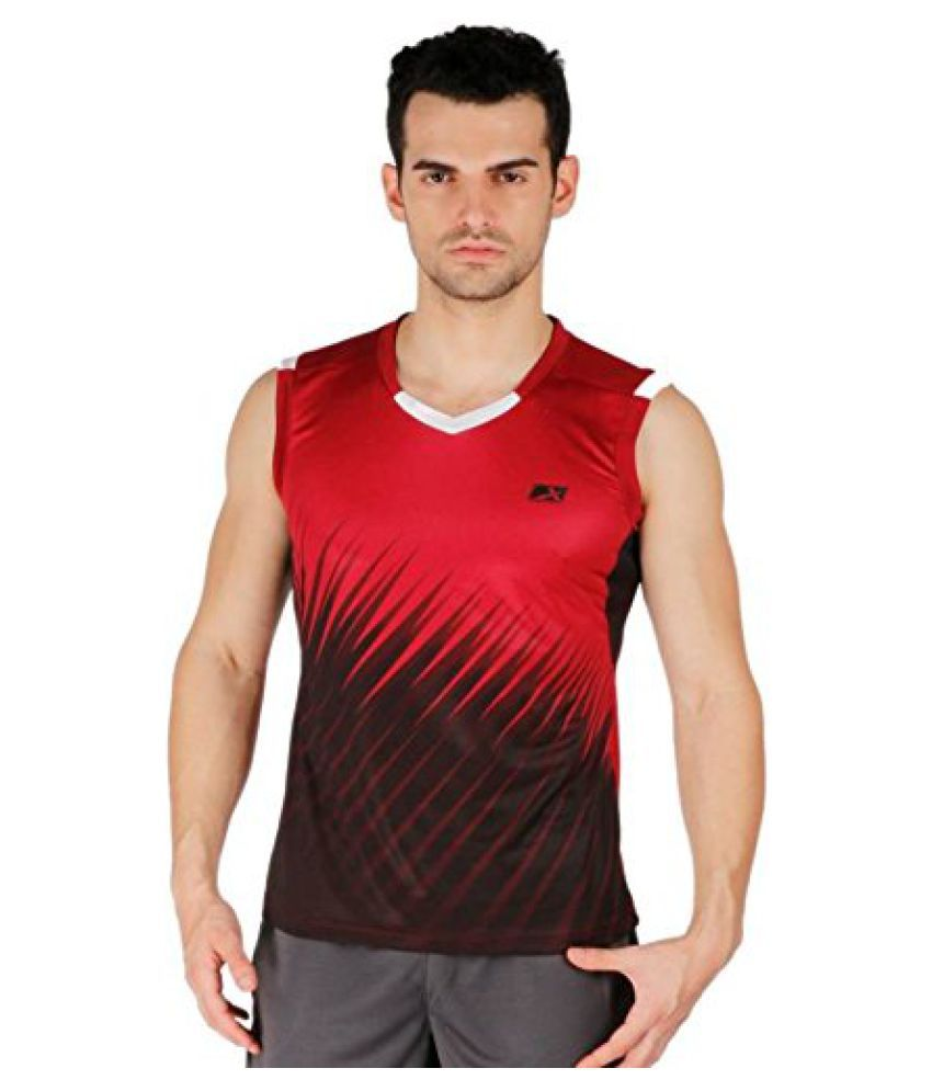 Vector X VTD-018-A Men's Round Neck Red T-Shirt (XS)