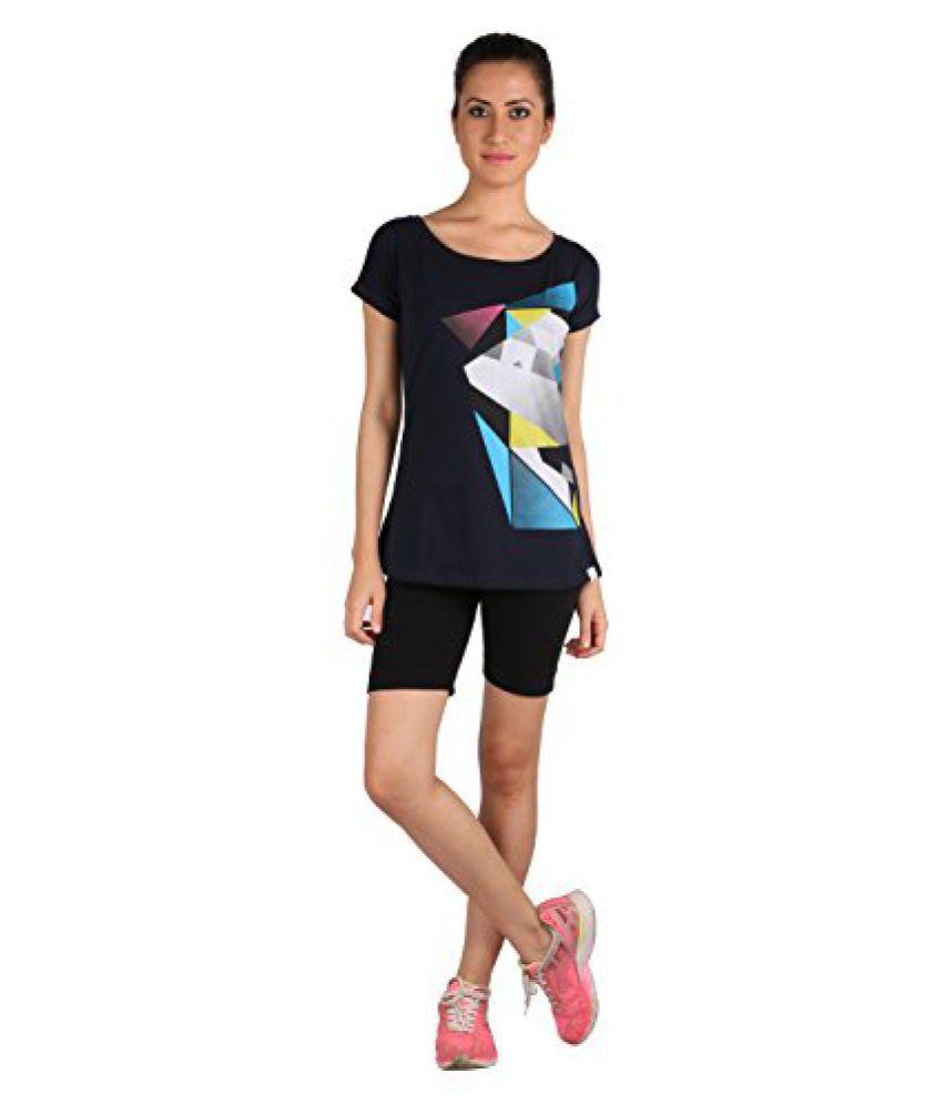 Vector X VTDF 040 A Printed Blend Round Neck T-Shirt, Women's (Blue)