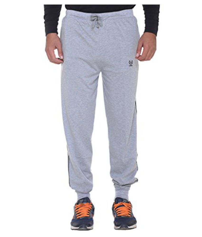 Vimal Mens Grey Cotton Trackpants