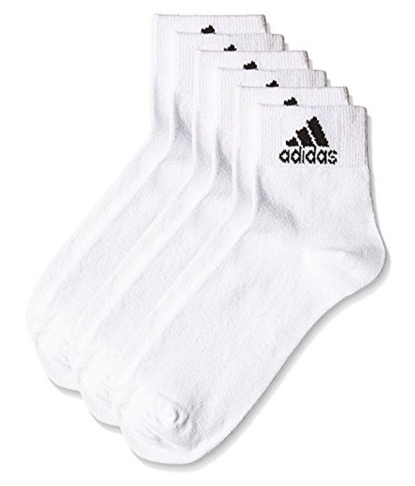 adidas AD2485 Flat Knit Ankle Socks, Mens Pack of 3 Size 39/42 (Black/Grey Melange/Navy)