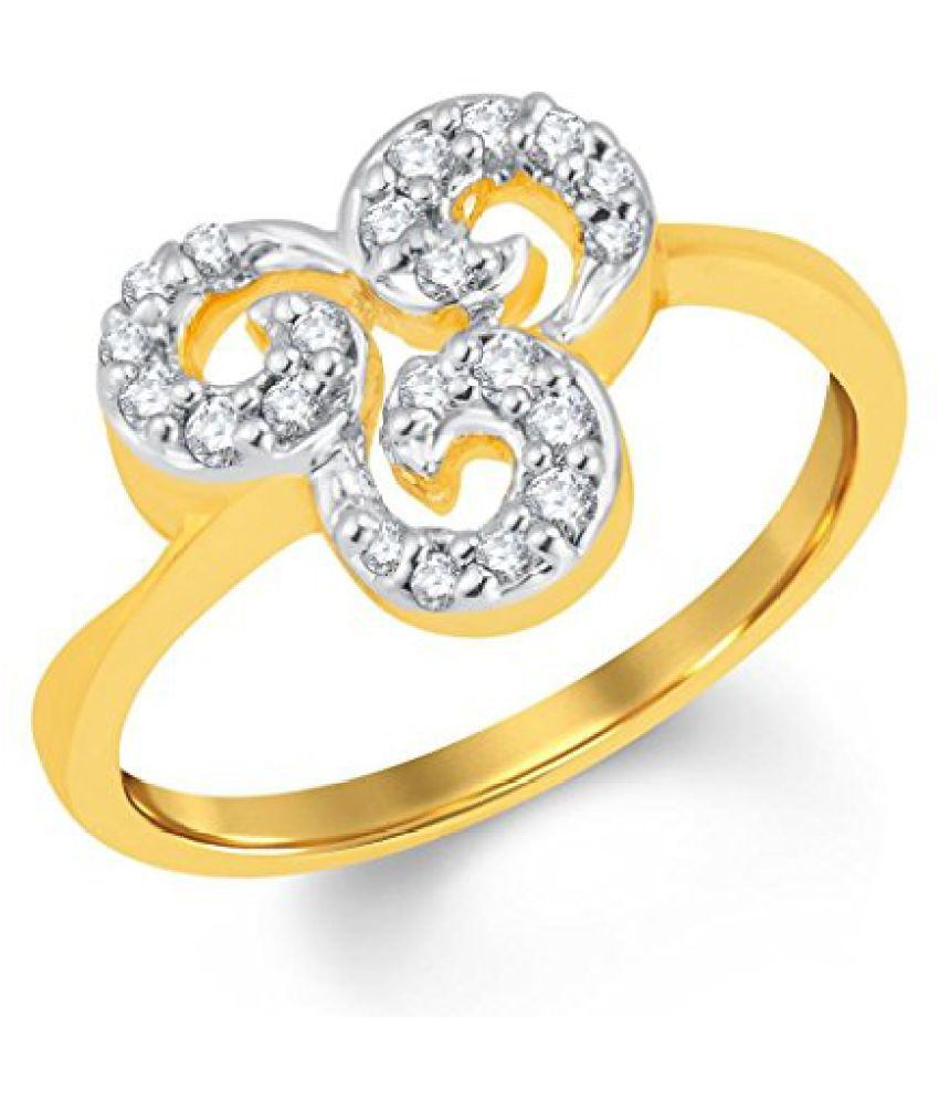 Sukkhi Fascinating Gold and Rhodium Plated Cubic Zirconia Ring for Women
