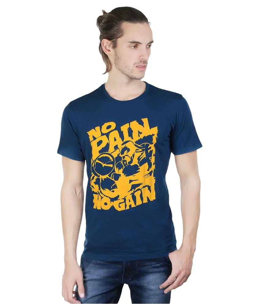 Twooft Blue Round T-Shirt