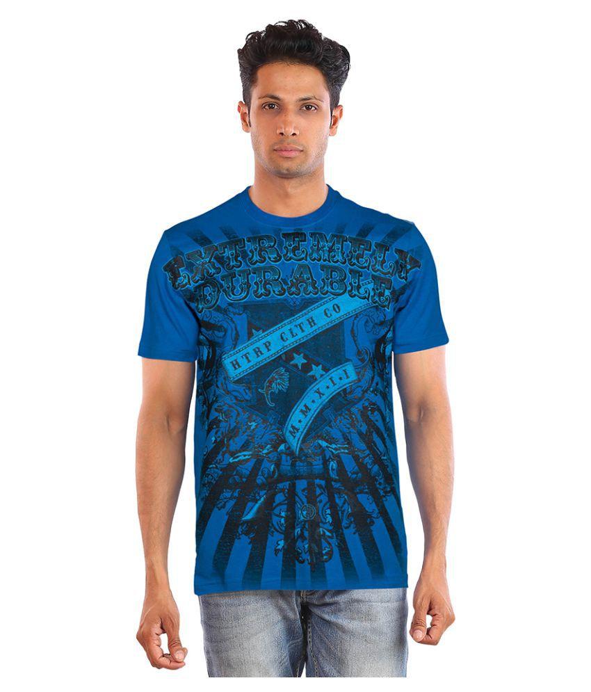 Huetrap Blue Round T-Shirt