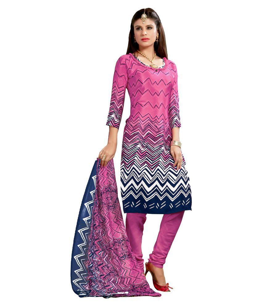 Latest Fancy Designer Multicoloured Silk Dress Material
