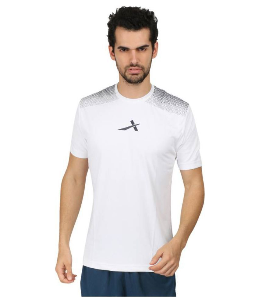 Vector X Printed Men's Round Neck White T-Shirt