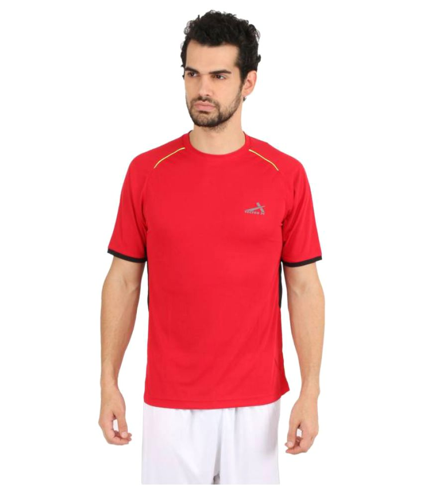 Vector X Solid Men's Round Neck Red T-Shirt