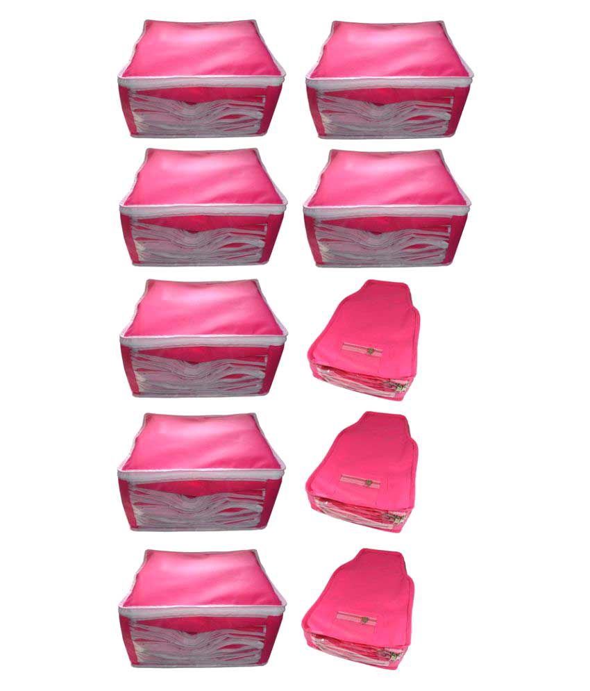 Abhinidi Pink Saree Covers - 10 Pcs