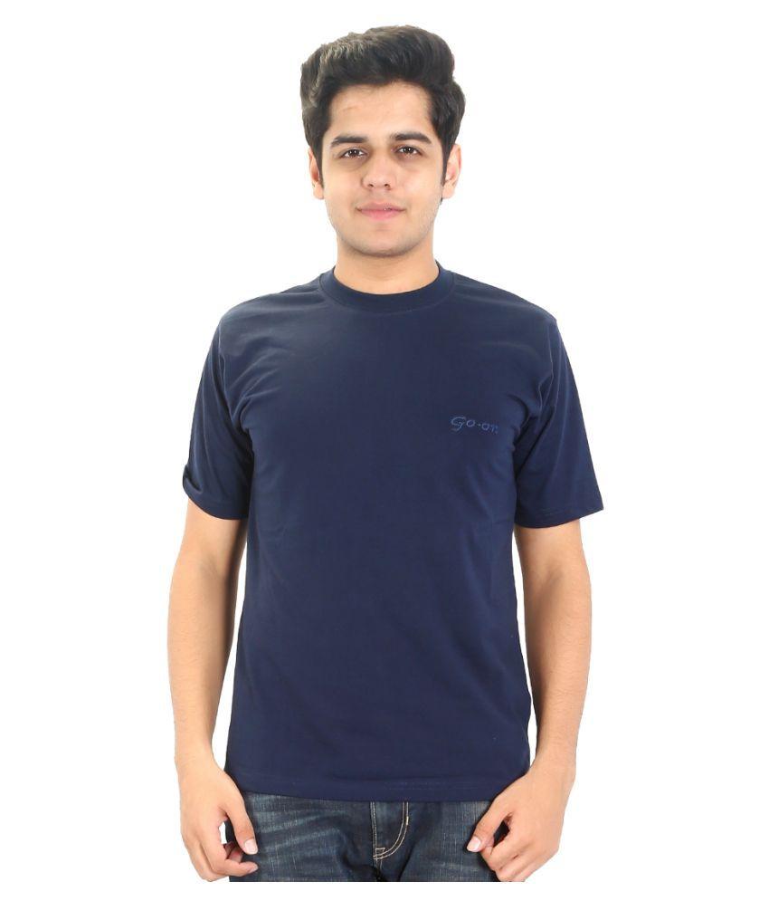 Go-On Navy Round T-Shirt