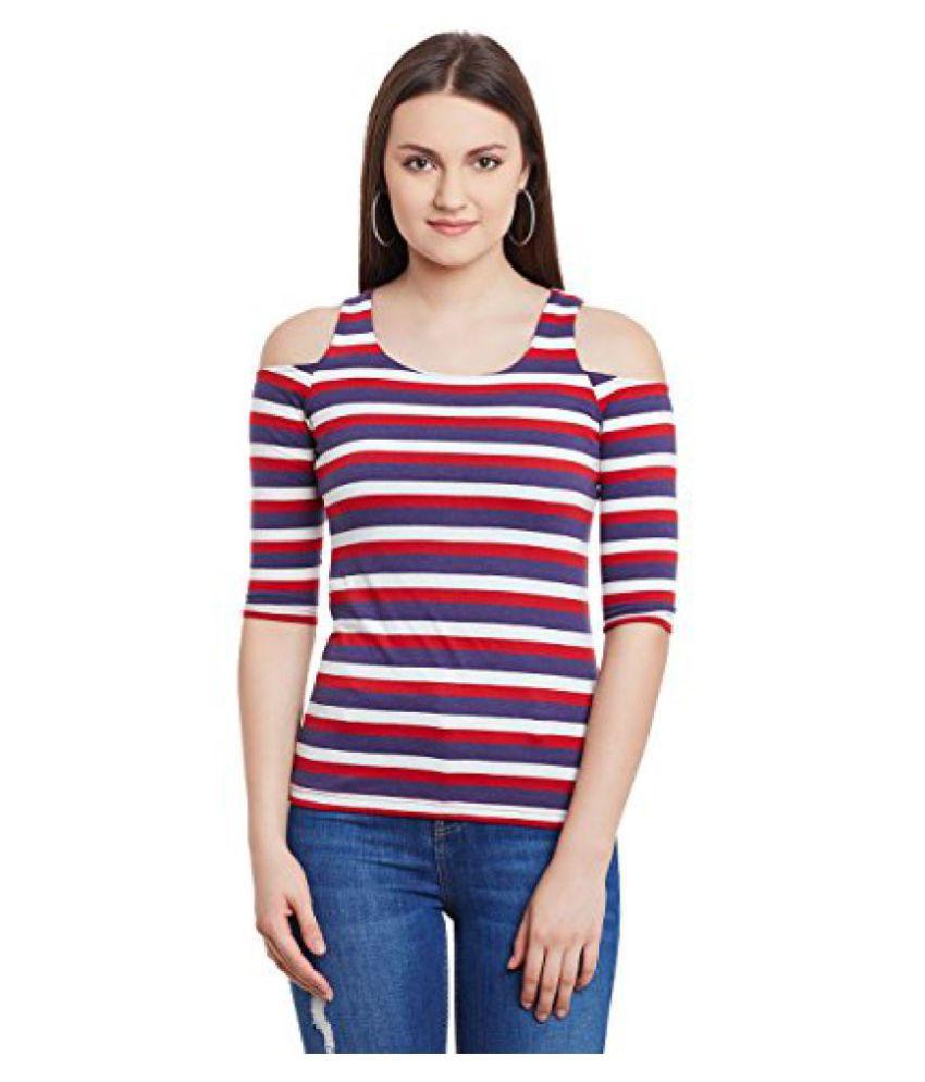1e271188a4e3e Hypernation Multi Color Stripe Cotton Cold Shoulder Top For Women - Buy  Hypernation Multi Color Stripe Cotton Cold Shoulder Top For Women Online at  Best ...