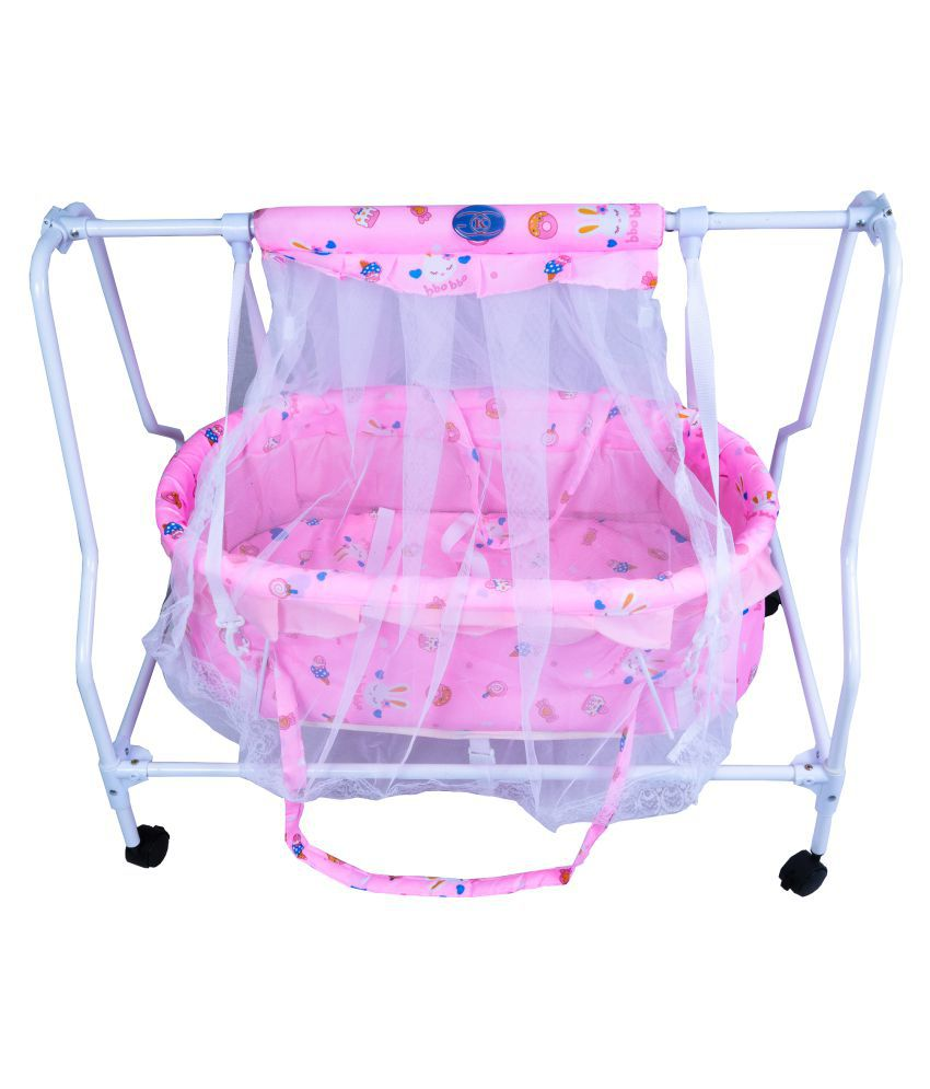 KGC Networks Kids Multifunctional Baby Best Bassinet Cradle with Mosquito Net