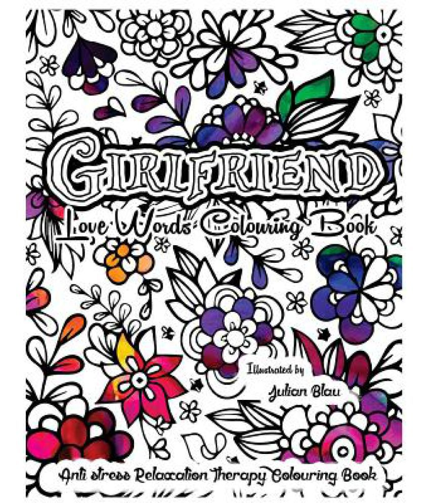 Girlfriend Love Words Colouring Book