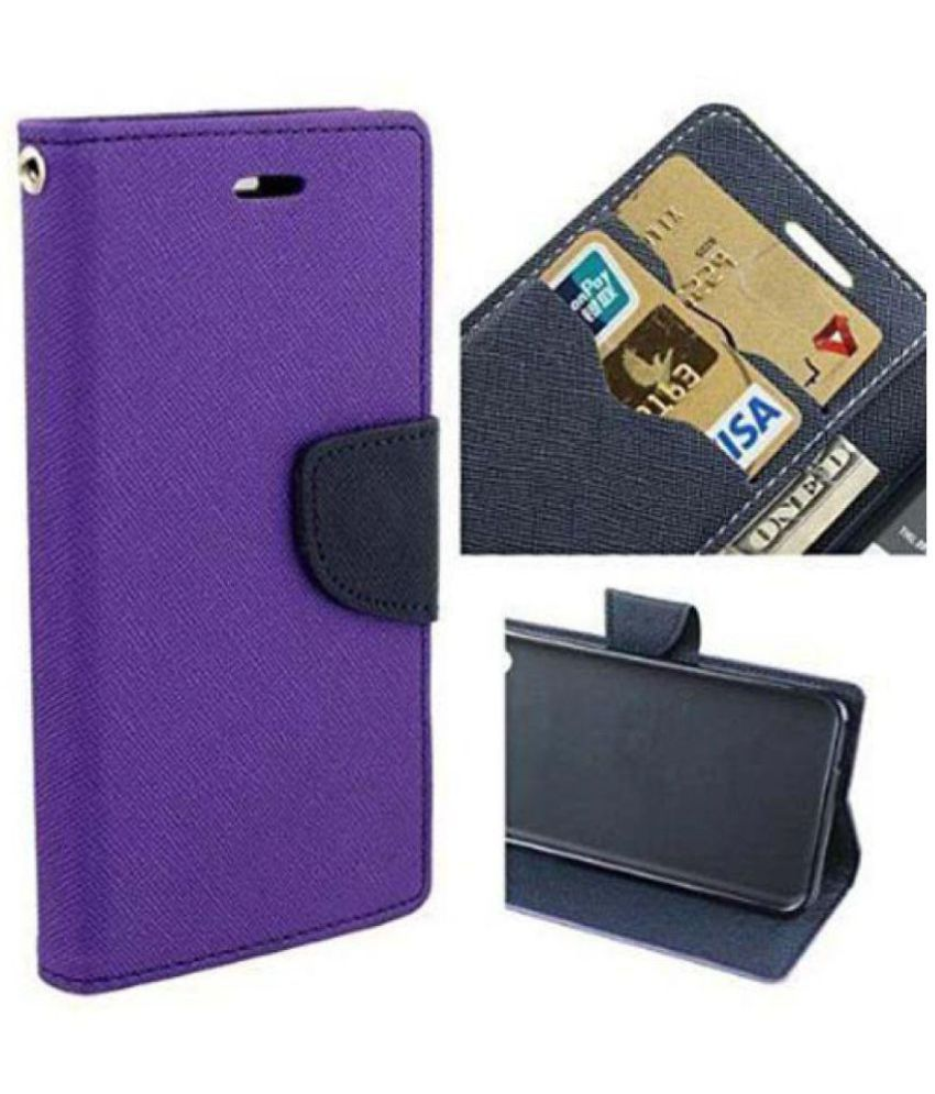 Motorola Moto M Flip Cover by G-MOS - Purple