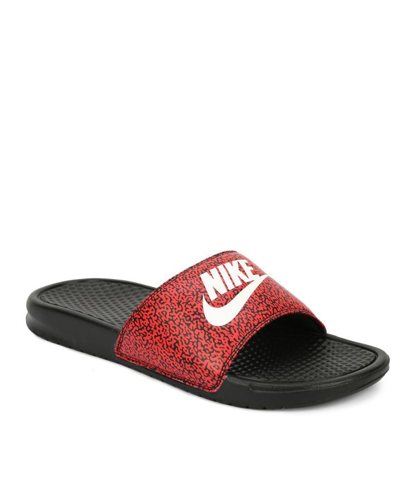 a83f6eda608a Nike BENASSI JDI PRINT Red Floater Sandals Price in India- Buy Nike BENASSI  JDI PRINT Red Floater Sandals Online at Snapdeal