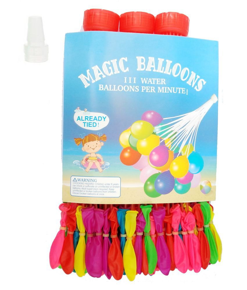 Nxt Gen 60 Seconds Automatic Fill Multicolour Holi Magic Water Balloons- Pack Of 111