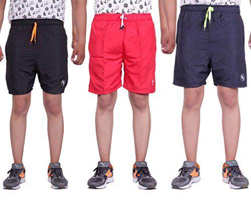 Belmarsh Dri-Fit Shorts for Men - Pack of 3 (SBLK_SRED_SNVY)