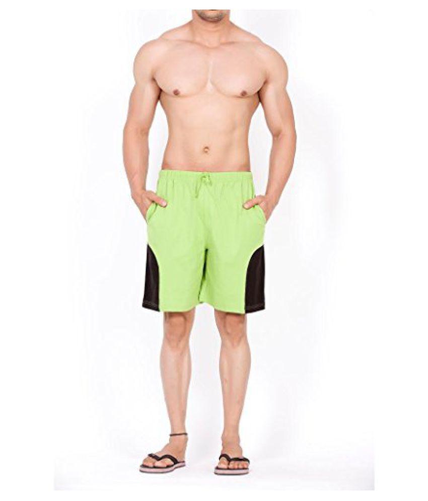 Clifton Mens Shorts MB04-A - Parrot Green/Black