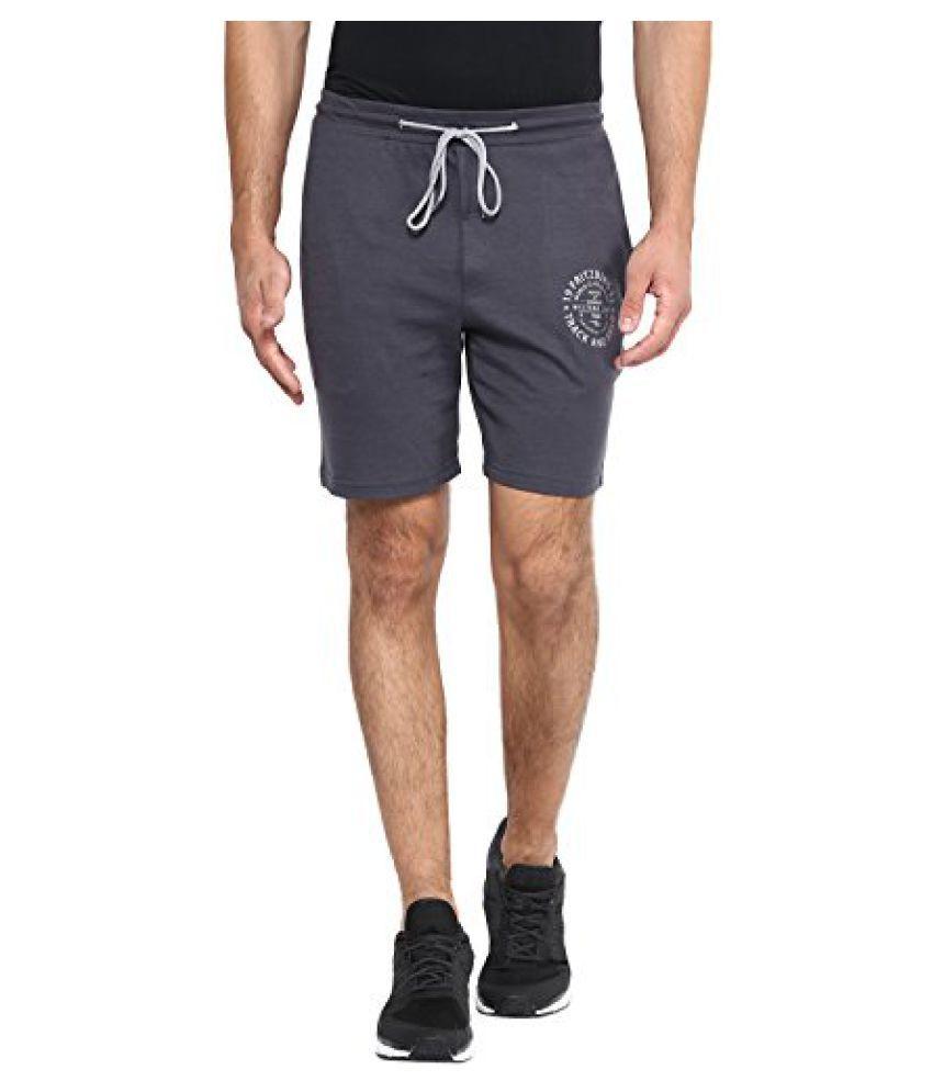 Fritzberg Men's Solid Dark Grey Shorts