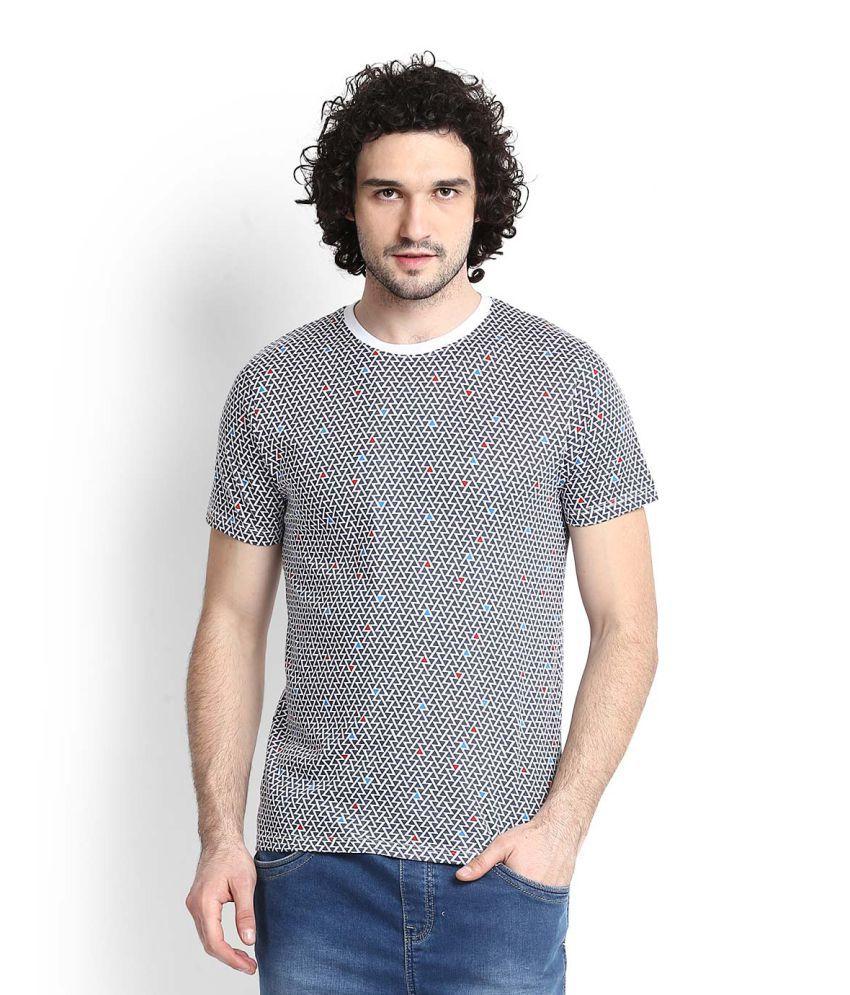 FCUK Blue Round T-Shirt