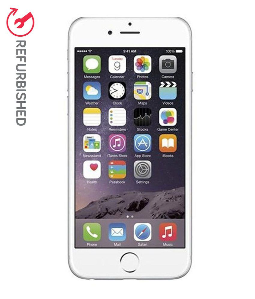 refurbished apple iphone 6 silver 64 gb available at snapdeal for. Black Bedroom Furniture Sets. Home Design Ideas