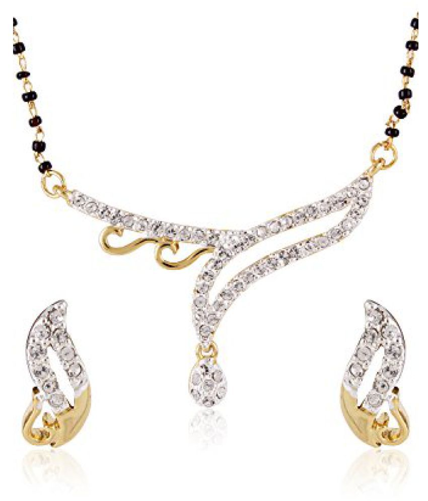 Estelle Gold Plated Necklace Set With Crystals For Women