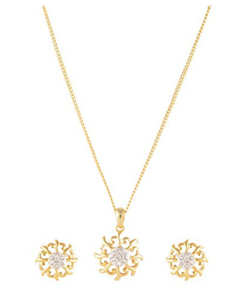Estelle Lead Free 24 Ct Gold Plated Jewellery Set for Women for Christmas New Year Gift with Life Time Warranty(Banarasia541)