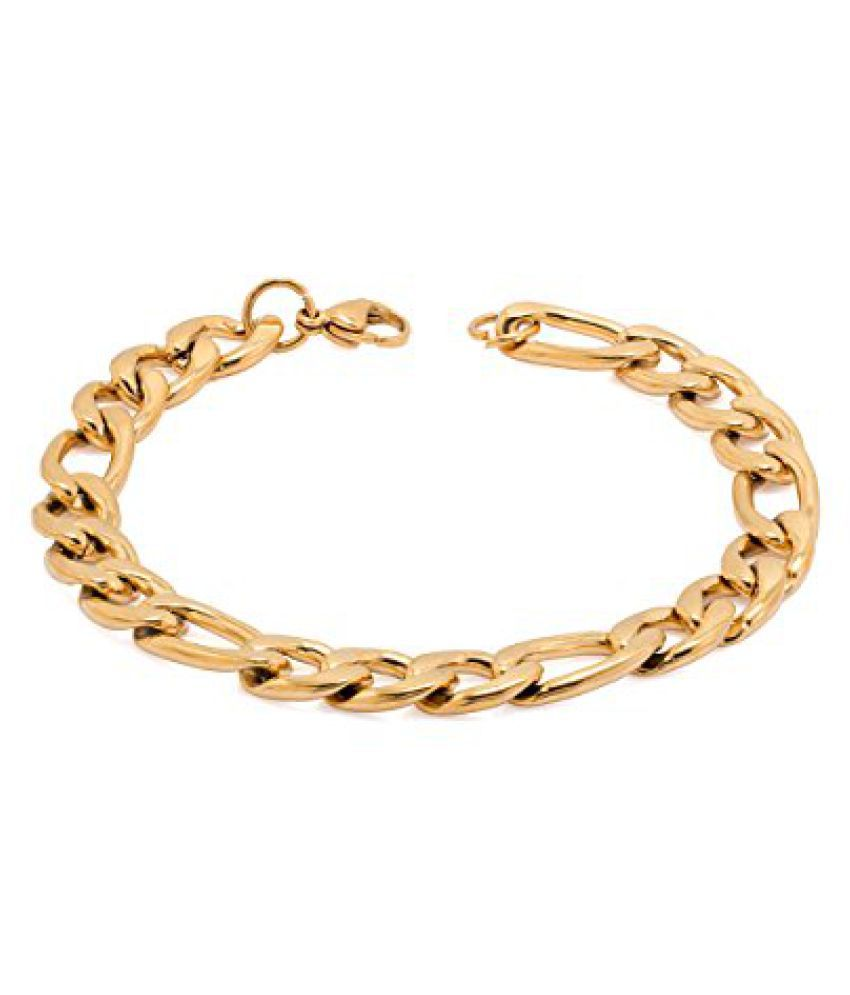 Voylla Golden Mens Link Bracelet