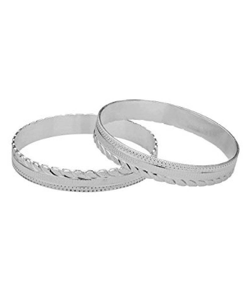 Voylla Rhodium Plated Bangles Made Of 925 Sterling Silver
