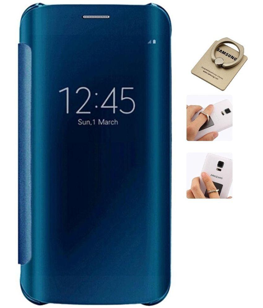 quality design f3497 8e86e Samsung Galaxy S7 Edge Flip Cover by YGS - Blue