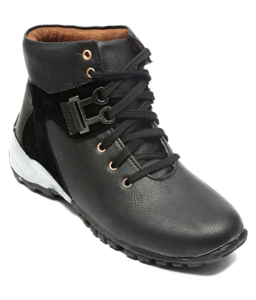 American Culture Black Casual Boot