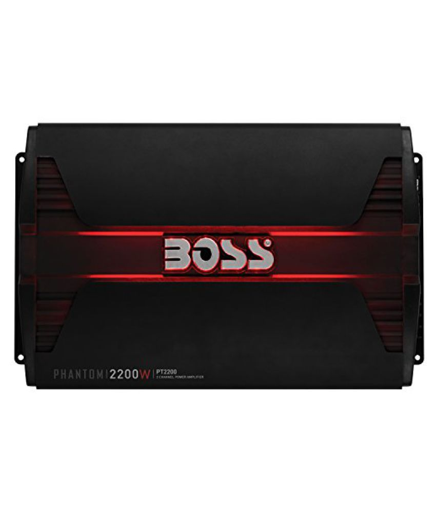 BOSS AUDIO PT2200 Phantom 2200-Watt Full Range, Class A/B 2-8 Ohm Stable 2 Channel Amplifier with Remote Subwoofer Level Control