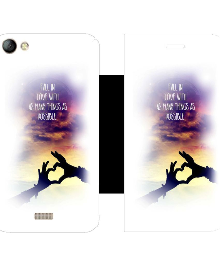 LYF Water 11 Flip Cover by Skintice - White