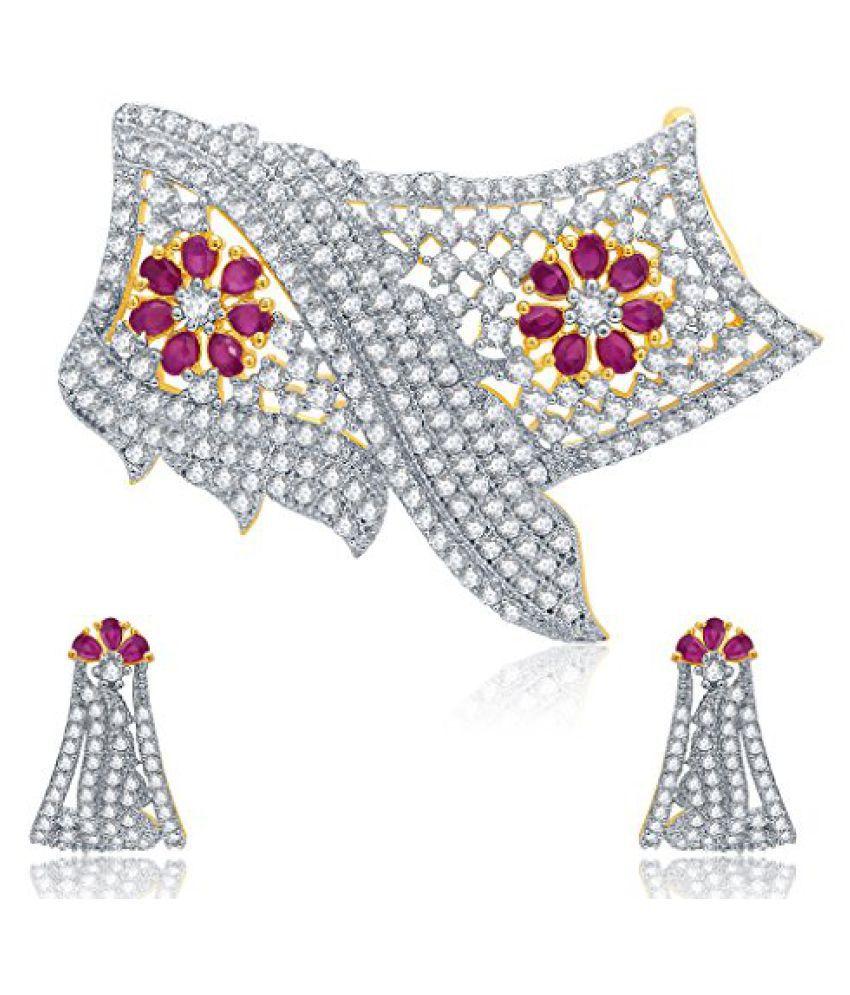 Sukkhi Ornate Gold And Rhodium Plated Ruby CZ Mangalasutra Set For Women