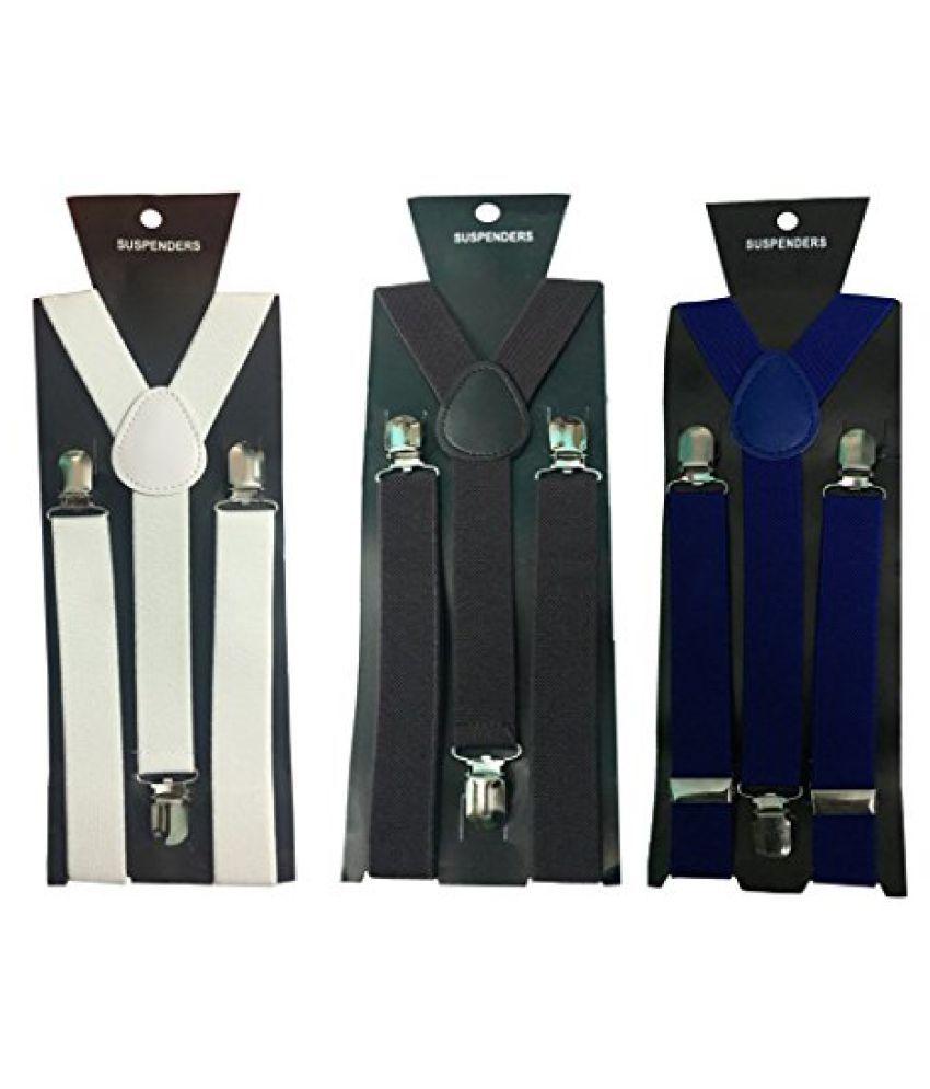 Atyourdoor Y- Back Suspenders for Men(White, Dark Brown & Royal Blue Color)