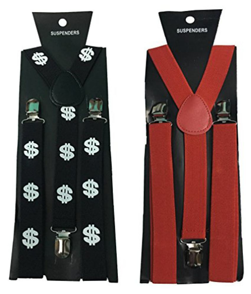 Atyourdoor Y- Back Suspenders for Men(Dollar Design & Red Color)