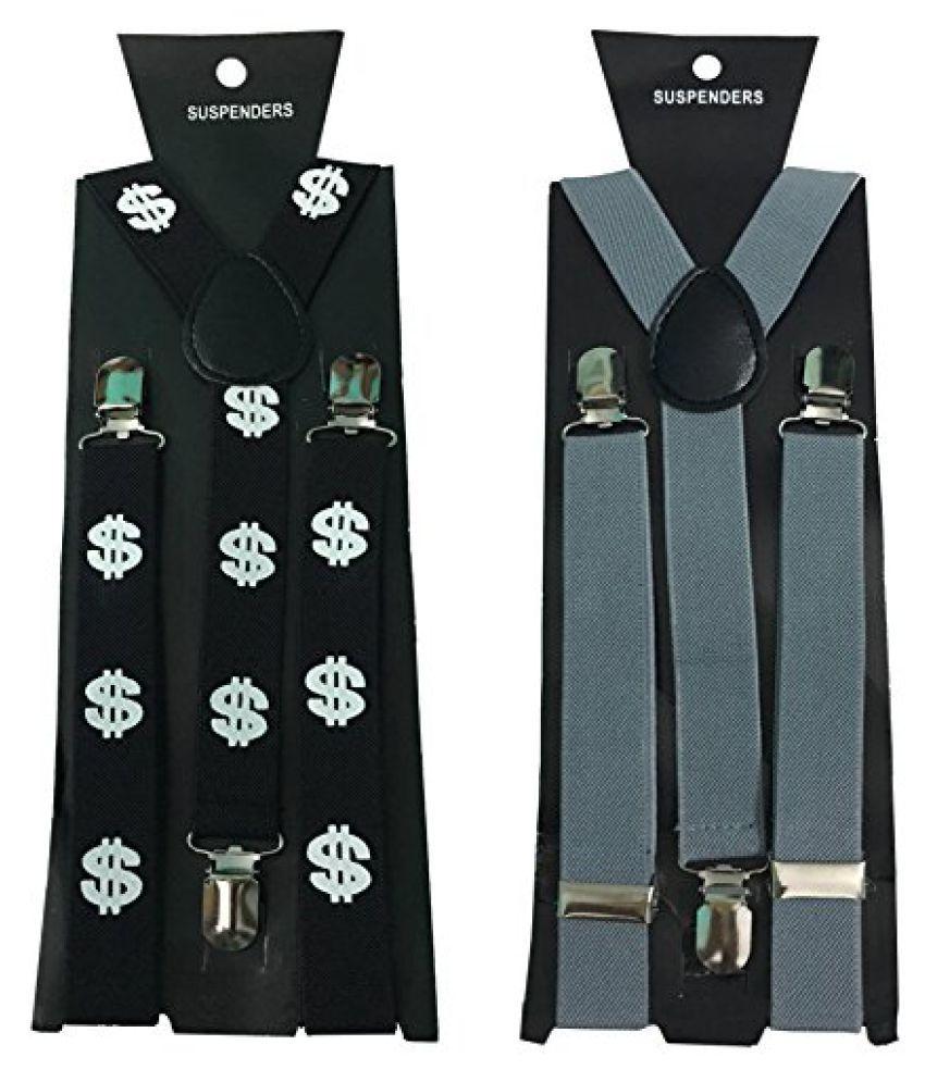 Atyourdoor Y- Back Suspenders for Men(Dollar Design & Grey Color)
