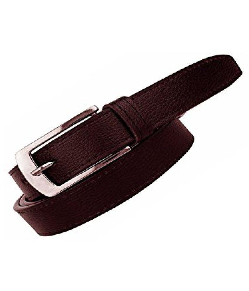 Elligator Mens PU Leather Belt forever (Brown)