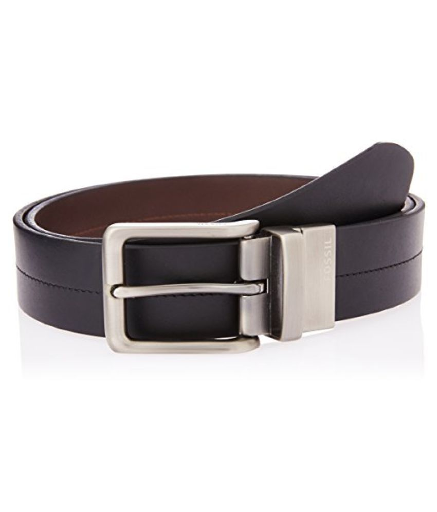 Fossil End of season style Brandon Black Leather Men's Belt