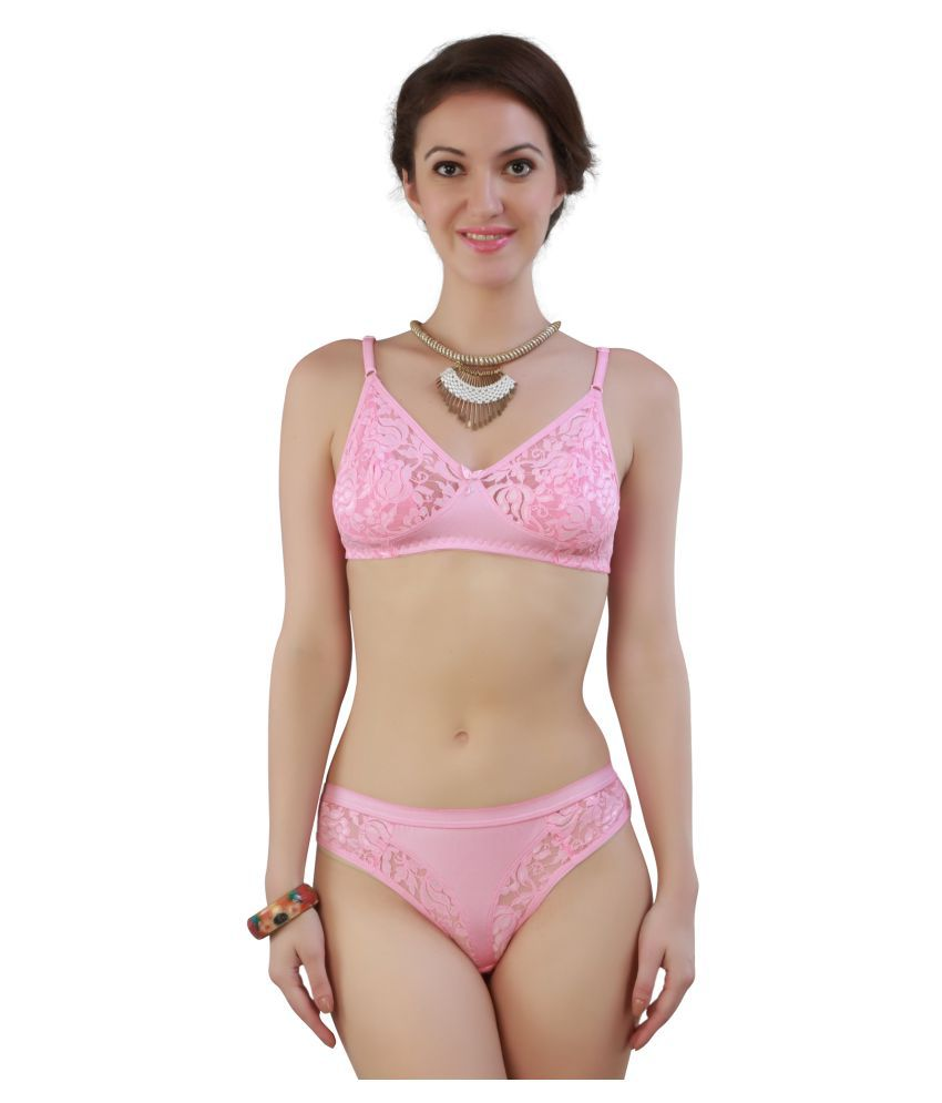 68c7b87b6d Buy French Beauty Net Mesh Bra and Panty Set Online at Best Prices in India  - Snapdeal