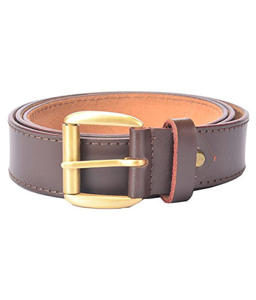 Hidelink Unisex Leather Belt (SP8094, Brown, 40)