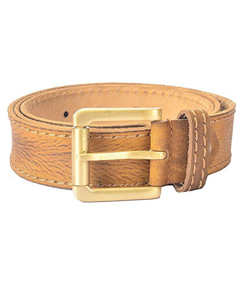 Hidelink Unisex Leather Belt (SP8096, Brown, 36)
